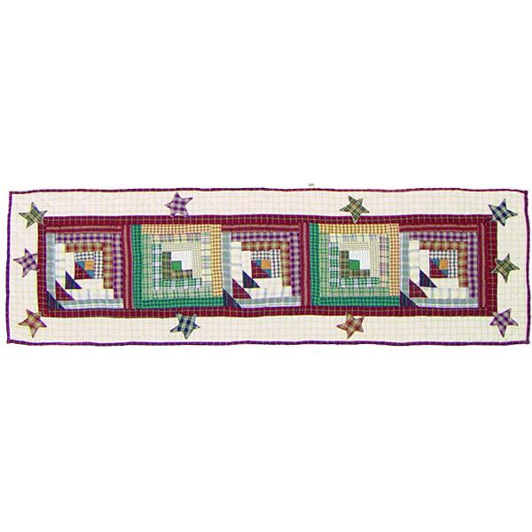 """Woodland Star and Geese  Table Runner Short 54""""W x 16""""L"""