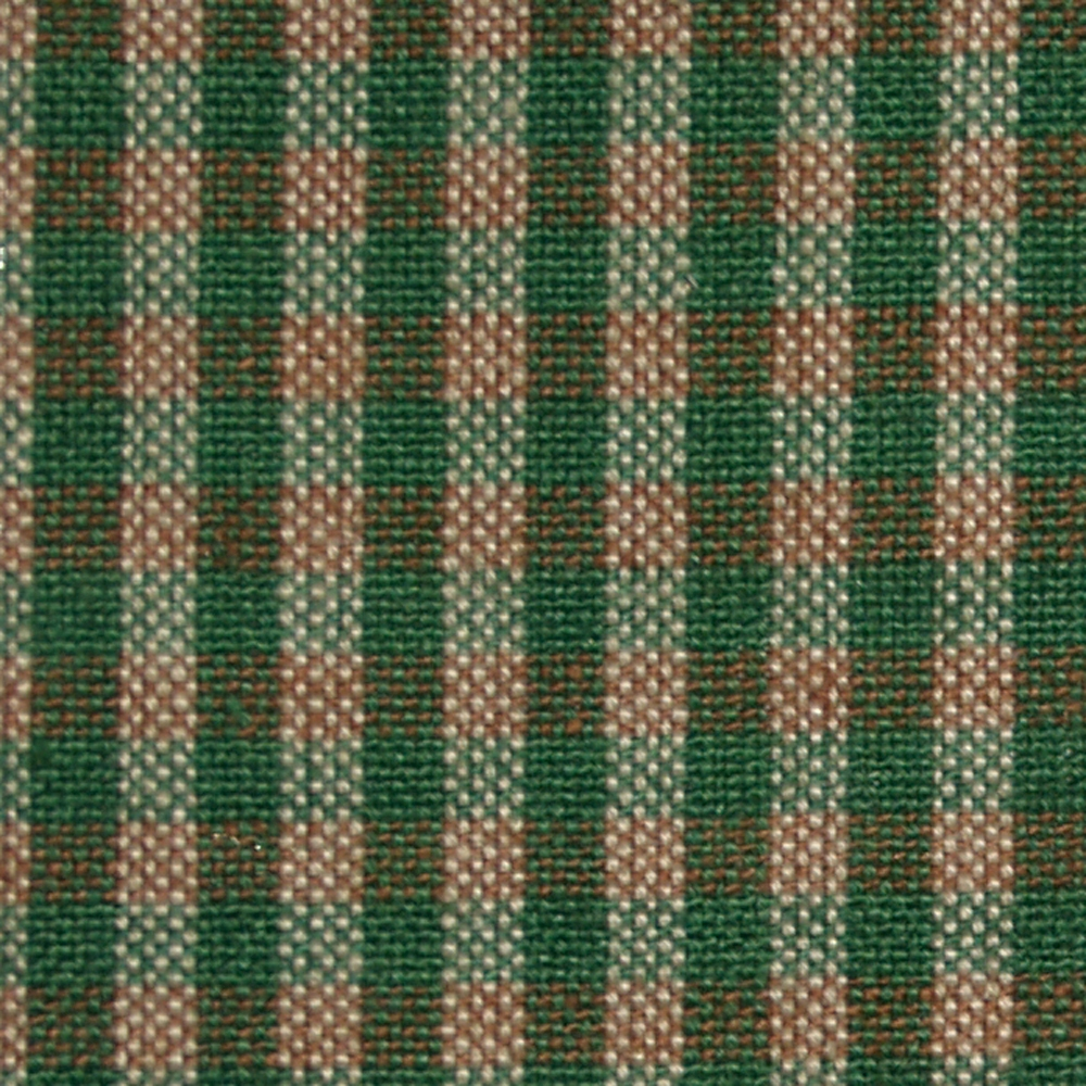 "Hunter Green & Tan Homespun checks Tree Skirt Large-54"" Dia"