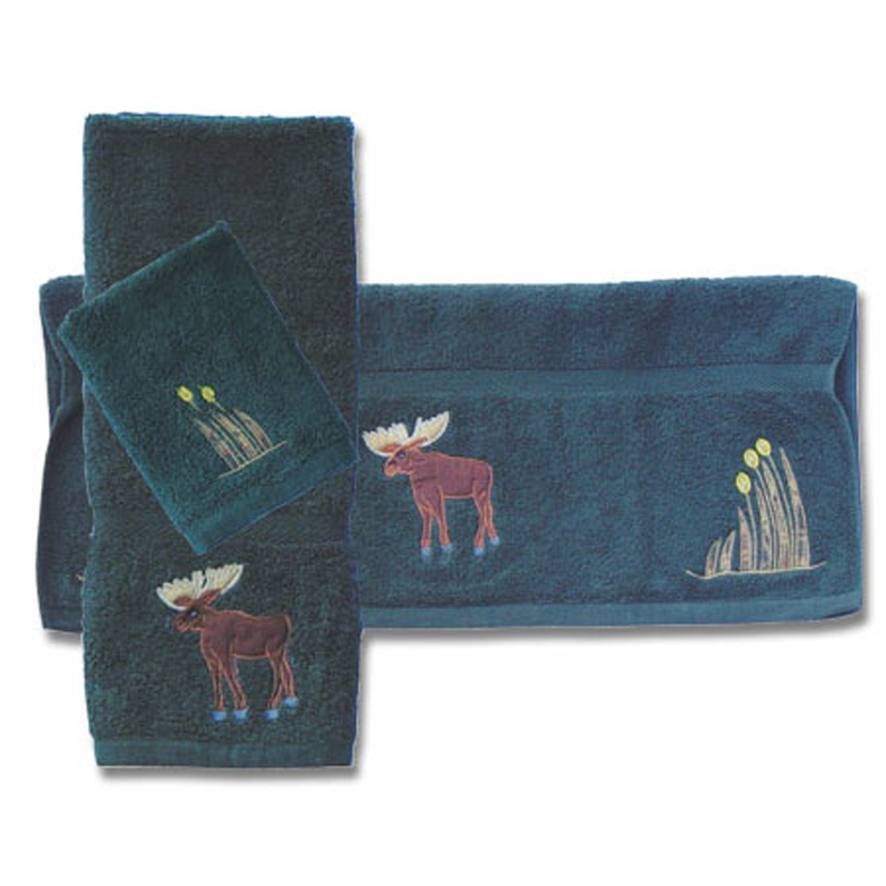 Moose towel set of 3