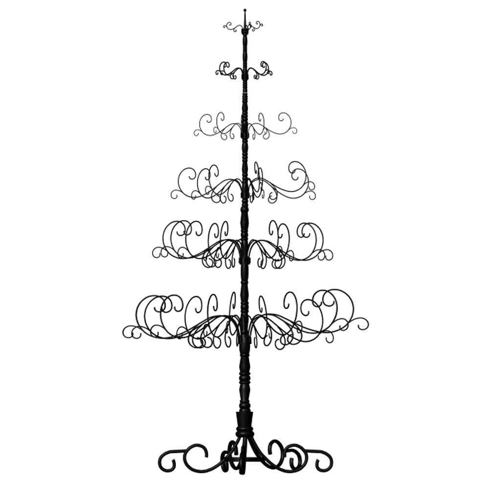 "10' Wrought Iron Black X-mas Tree with 6 Levels, 52"" x 52"" x 120"""